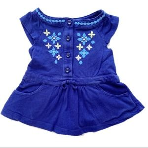 Gymboree Dark Blue Swing Top with Pockets 2T